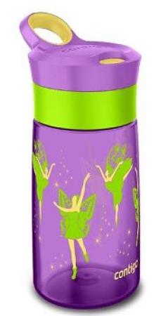 Детская бутылка для воды с трубочкой и кнопочкой Contigo Gracie, бирюзовая, 420 мл, 10000351