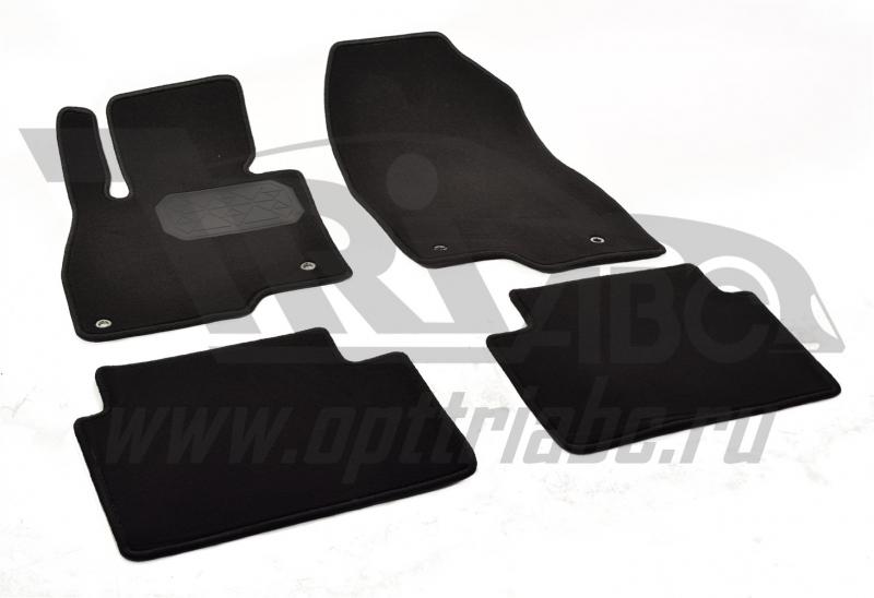Коврики салона текстильный Mazda 3 (2013-) (Велюр, полиамид)(подпятник п/у)(черные), NPA10VTE550050A