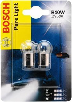 Лампа Pure Light, 12 В, 10 Вт, R10W, BA15s, BOSCH, 1 987 301 019