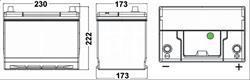 Аккумулятор TUDOR High-Tech 65 А/ч TA654 выс обр. 230x173x222 EN 580