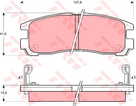 Колодки дисковые Задние, TRW, GDB1023