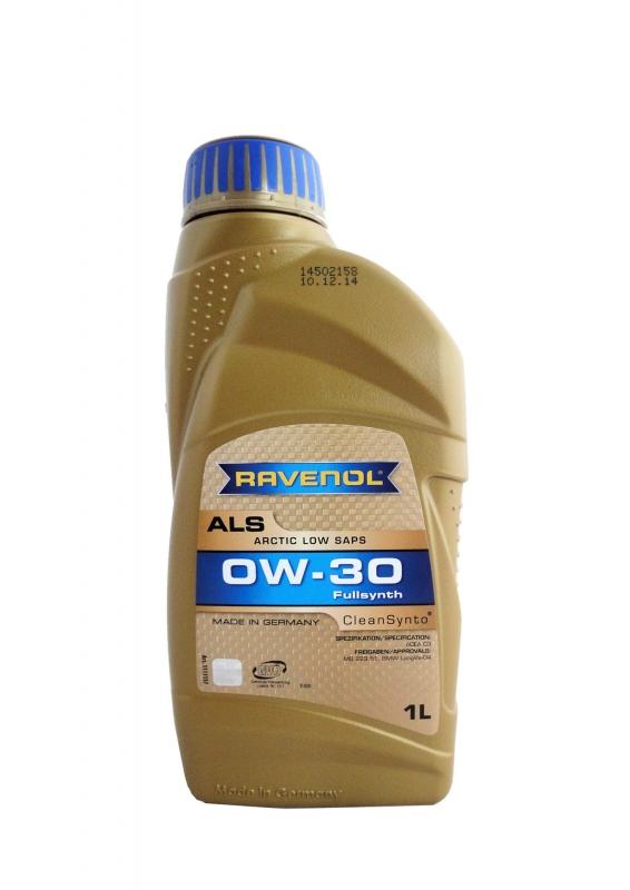 Моторное масло RAVENOL Arctic Low SAPS ALS, 0W-30, 1 л, 4014835797710