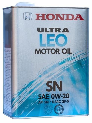 Моторное масло HONDA Ultra LEO-SN, 0W-20, 4л, 08217-99974