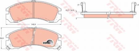 Колодки дисковые Передние, TRW, GDB1126