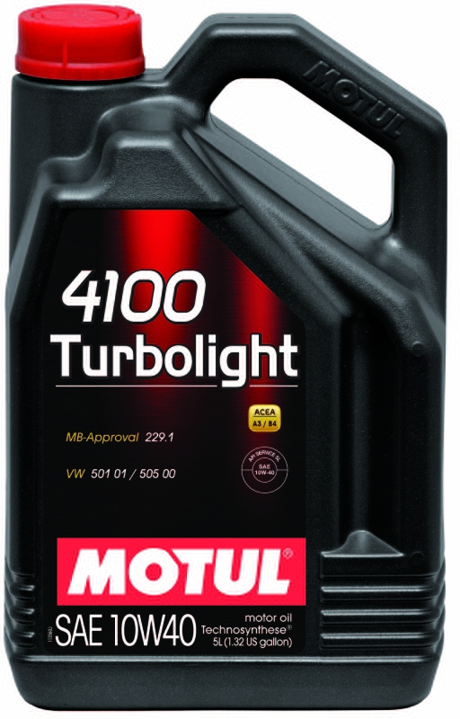 Моторное масло MOTUL 4100 TURBOLIGHT, 10W-40, 4 л, 100355
