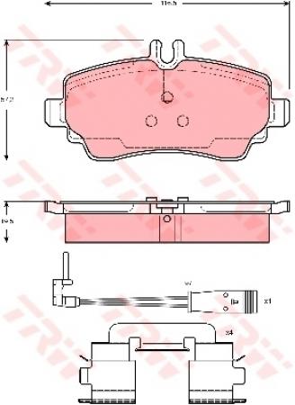 Колодки дисковые Передние, TRW, GDB1480
