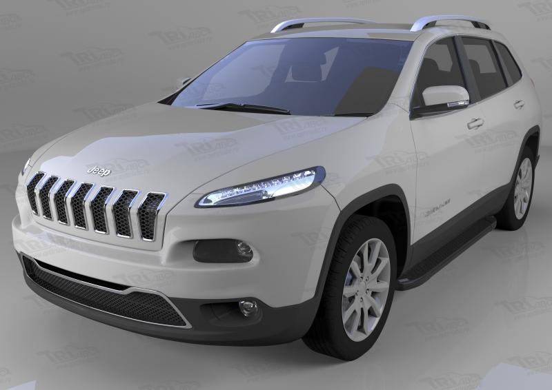 Пороги алюминиевые (Sapphire Black) Jeep Cherokee Trailhawk (2014-), JECH541428