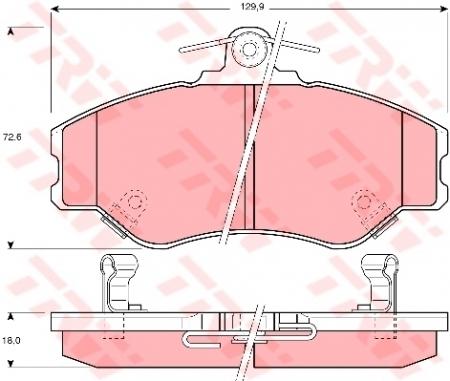 Колодки дисковые Передние, TRW, GDB3089