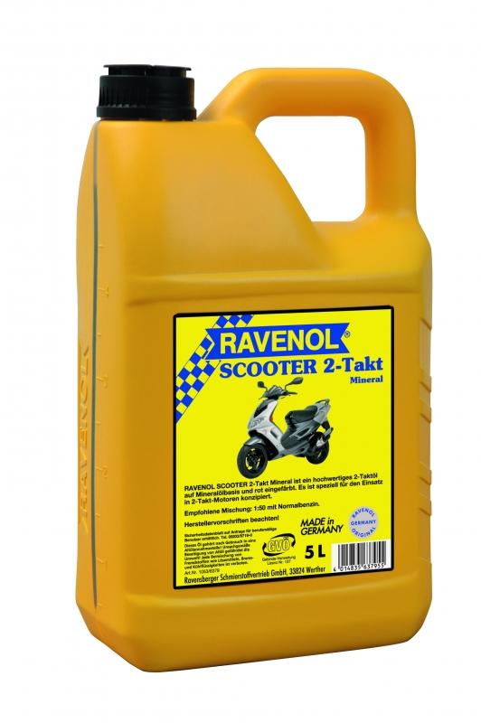 Моторное масло RAVENOL Scooter 2-Takt, 5 л, 4014835637955
