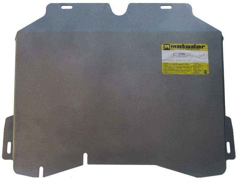 Защита картера КПП Mitsubishi Pajero Sport I 1998-2008 V=2.5 TD (алюминий 5 мм), MOTODOR31304