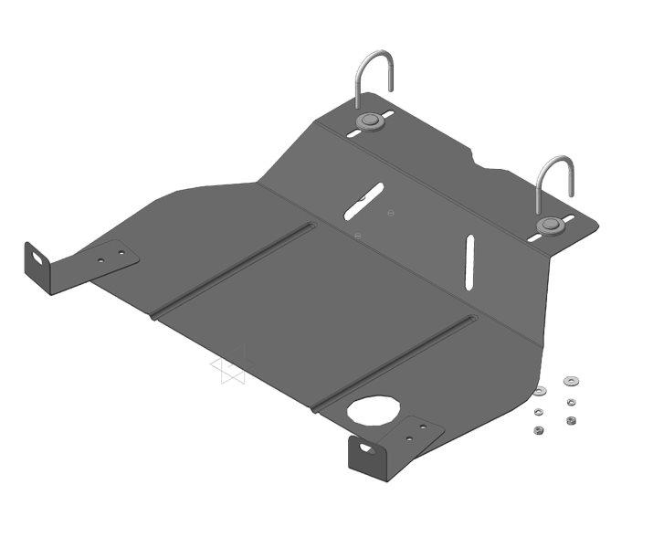 Защита картера двигателя, КПП LADA Priora 2007- V=1,6i (сталь 2 мм), MOTODOR62102