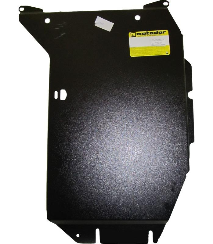 Защита картера КПП BMW X3 кузов E83 2003-2010 V=2,0D, V=3,0i (сталь 3 мм), MOTODOR10202
