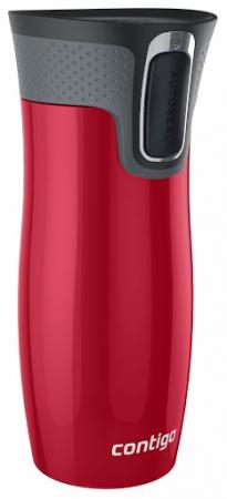 Термокружка Contigo West Loop с автозакрывающимся носиком, красная, 470 мл, 10000097