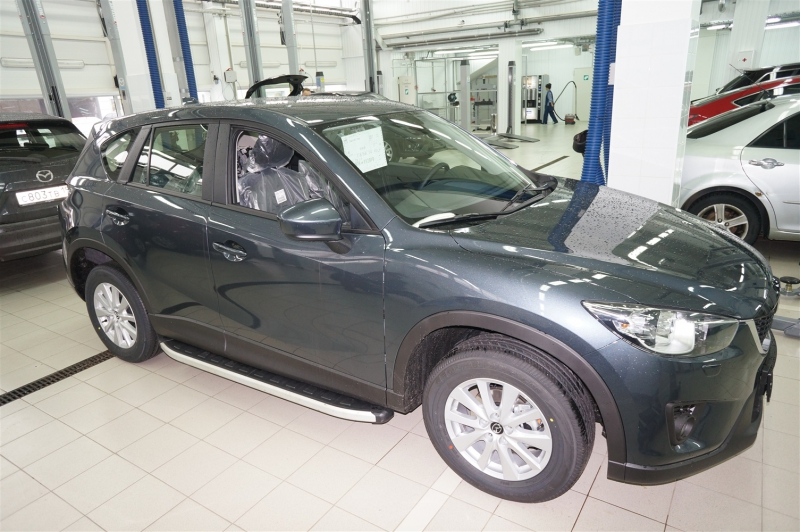 Пороги алюминиевые (Alyans) Mazda (Мазда) CX5 (2012-2015 / 2015-), MACX471973