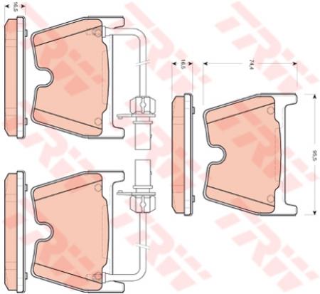 Колодки дисковые Передние, TRW, GDB1688
