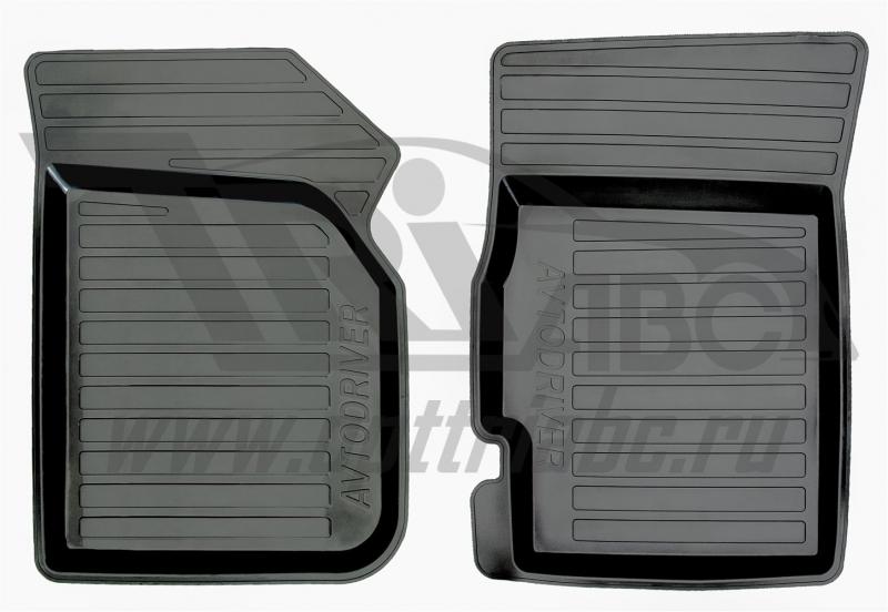 Коврики салона резиновые с бортиком для Chevrolet Spark (2005-2010) (2 передних), ADRAVG0312