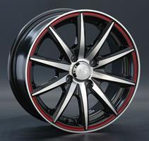 Колесный диск LS Wheels LS 221 6.5x15/4x100 D56.6 ET45 черный частично полированный с красной линией