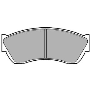 Колодки дисковые, DELPHI, LP676