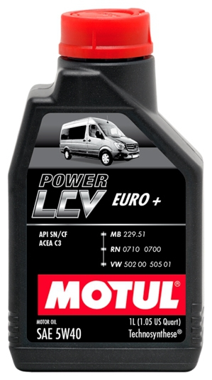 Масло моторное MOTUL Power LCV EURO+, 5W-40, 1л, 106131