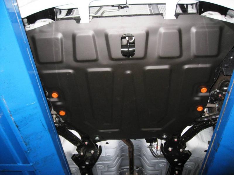 Защита картера двигателя и кпп Hyundai Accent ТагАЗ (V-все, 2000-) штамп. (Сталь 1,8 мм), 04086C2