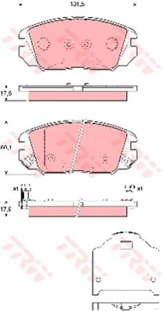 Колодки дисковые Передние, TRW, GDB3409