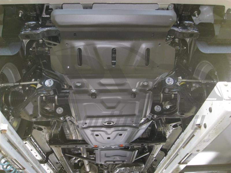 Защита днища Toyota Hilux, V-3.0TD (2015-)(24.90; 24.91; 24.92; 24.93) (Сталь 1.8 мм), 09839C2