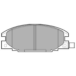 Колодки дисковые, DELPHI, LP629