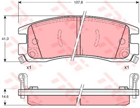 Колодки дисковые Задние, TRW, GDB1309
