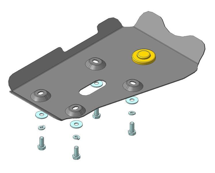 Защита картера ЗДф Toyota RAV4 2013- V=2,0i, (сталь 2 мм), MOTODOR02569