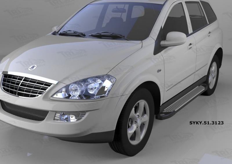 Пороги алюминиевые (Sapphire Silver) Ssang Yong Kyron (Ссанг Йонг Кайрон) (2006-), SYKY513123