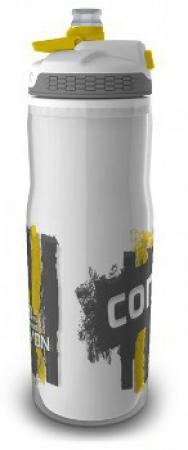 Бутыль для воды Contigo Devon Insulated с носиком легкосжимаемая, бело-желтая, 650 мл, 10000196