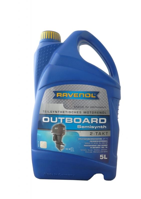 Моторное масло RAVENOL Outboardoel 2T Teilsynth, 5л, 4014835728356