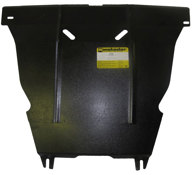 Защита картера двигателя, КПП Kia Picanto II 2011- V=1,2i, (сталь 2 мм), MOTODOR01029