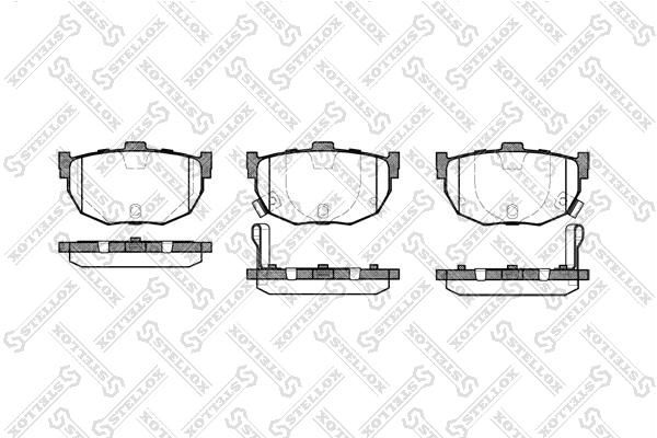 Колодки дисковые, STELLOX, 305022SX