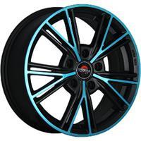 Колесный диск Yokatta MODEL-26 6x15/4x100 D58.6 ET36 матовый черный+синий (MB+BL)