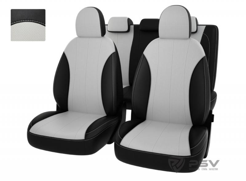 "Чехлы Hyundai i30 12-> чер-бел экокожа ""Оригинал"", 122109"