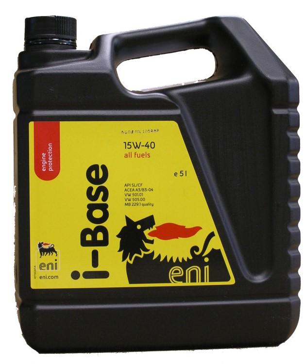 Моторное масло ENI I-Base, 15W-40, 5л, 8423178020762