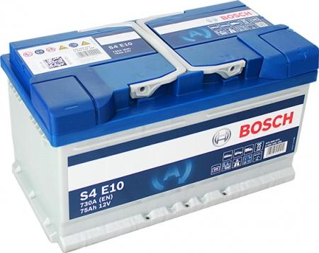 Аккумуляторная батарея Bosch S4 EFB, 12 В, 75 А/ч, 730 А, 0092S4E100