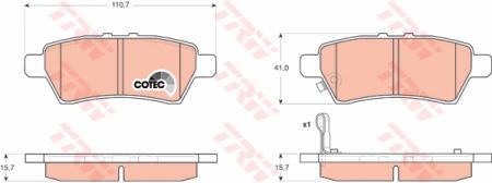 Колодки дисковые Задние, TRW, GDB3405