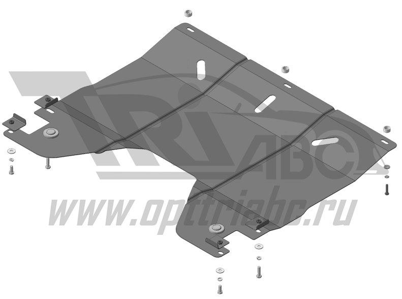 Защита картера двигателя, КПП Сhery Arrizo 7; V=1,6; МКПП; c 2014 г.в. ; Cтандарт, MOTODOR69005