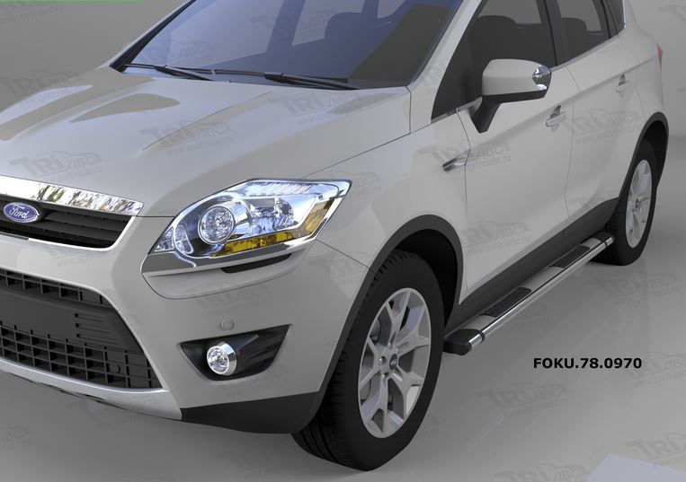 Пороги алюминиевые (Emerald silver ) Ford Kuga (2008-2013), FOKU780970