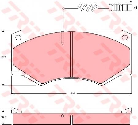 Колодки дисковые Передние, TRW, GDB1067