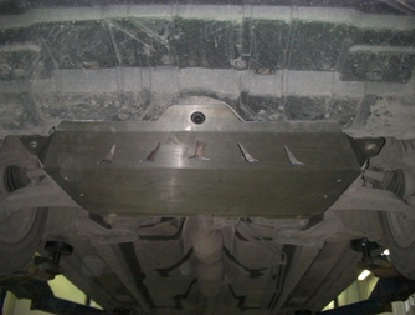 Защита картера двигателя и кпп Toyota Camry (Тойота Камри) V-все (2006-2011) (Алюминий 4 мм), 2401AB