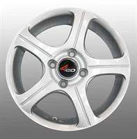 Колесный диск 4go CT001 5.5x14/4x100 D67.1 ET40 серебристый
