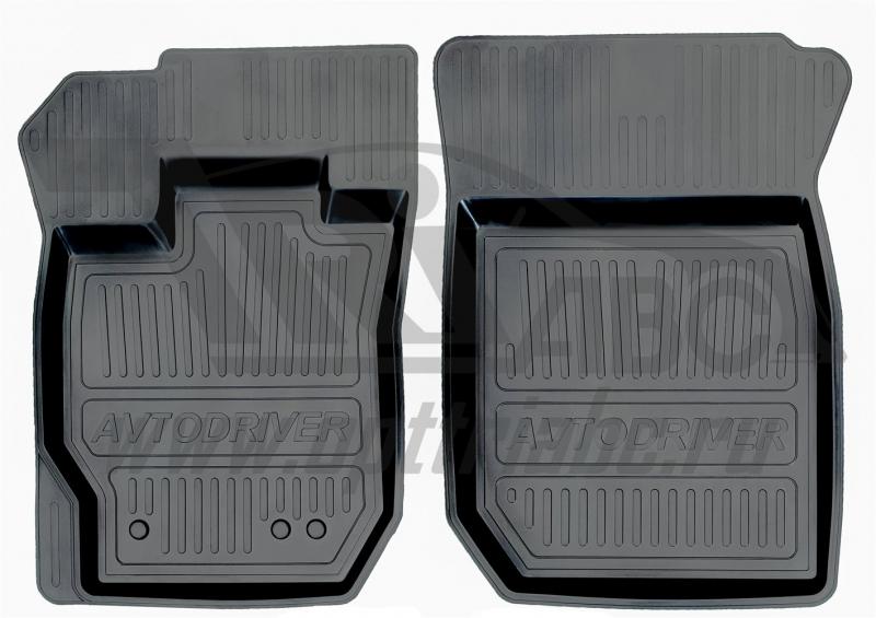 Коврики салона резиновые с бортиком для Nissan Almera (2013-) (2 передних), ADRJET0282