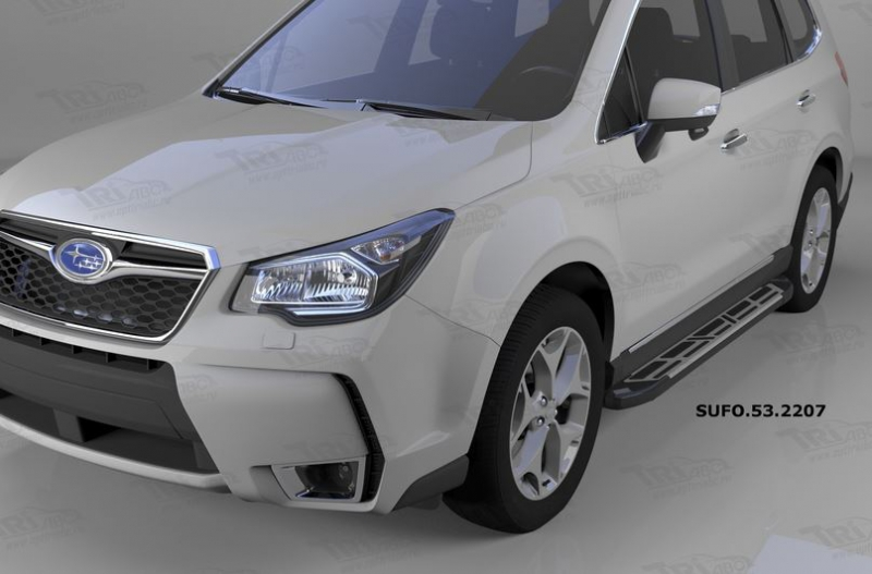 Пороги алюминиевые (Corund Silver) Subaru Forester (2013-), SUFO532207