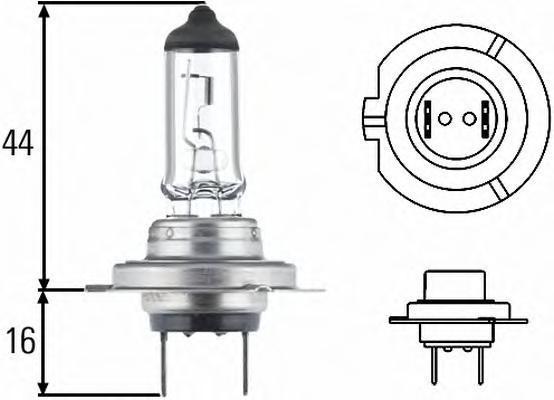 Лампа, 12 В, 55 Вт, H7, PX26d, HELLA, 8GH 007 157-181