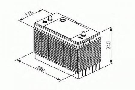 Аккумуляторная батарея Bosch L4, 12 В, 105 А/ч, 750 А, 0092L40330