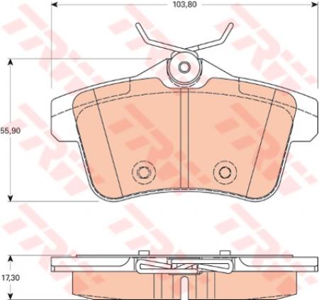 Колодки дисковые Задние, TRW, GDB1828