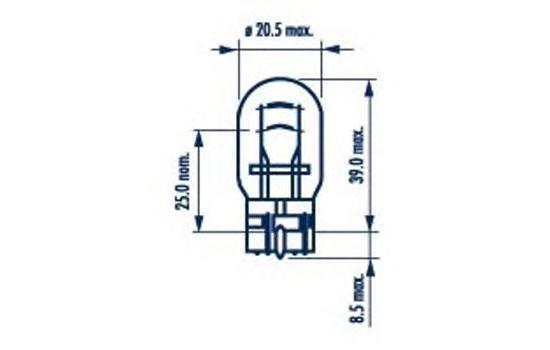 Лампа NARVA, 12 В, 21/5 Вт, W3x16d, 17919